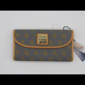 Dooney & Bourke Continental Wallet Monogram Slate